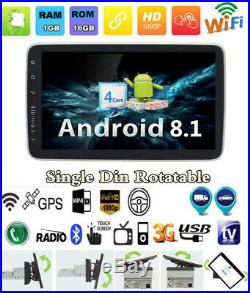 1 Din Android 8.1 9 1080P Quad-core Car BT Stereo Radio MP5 Player GPS Sat Navs