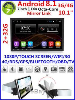 10.11080P 1DIN Touch Screen Octa-Core 2G RAM +32G ROM Car Stereo Radio GPS Wifi