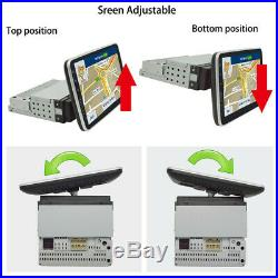 1DIN 9'' Rotatable Android 8.1 2+32G Car Stereo Radio GPS WiFi 4G BT Mirror Link