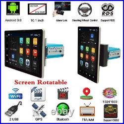 1Din 10.1in Android 9.0 4+64GB Car MP5 Player Touch Screen Stereo Radio GPS WIFI