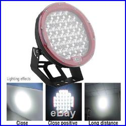 2x 185W 9 LED Work Light Round Cree 4D Spot Fog Driving Lamp Offroad SUV Truck