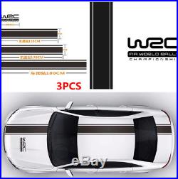 3X Fashion Decal Vinyl Graphics Stripe Stickers+Letter for Car Roof Trunk Door