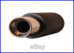4 Stainless Steel Tip Performance Exhaust Muffler Jap Can Back Box Mf1638