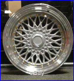 4 x 17 BBS RS STYLE ALLOY WHEELS TO FIT FORD FIESTA FOCUS 4X100/108