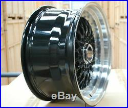 4 x 17 BBS RS STYLE ALLOY WHEELS TO FIT FORD FIESTA FOCUS 4X100/108 BLACK POL