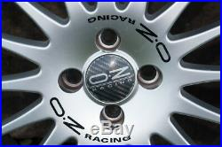 4 x 17 OZ Racing Gran Turismo wheels with tyres