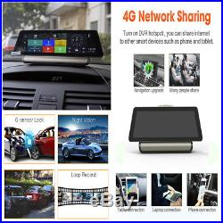 4G Touch Dual Lens Car DVR Recorder GPS Navi IPS ADAS WIFI Bluetooth Android 5.1