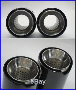 4x Real Carbon Fiber Auto Exhaust Pipe Muffler End Tips For Car 63mm-103mm Gloss