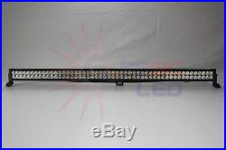 52 300W 28500lm LED Light Bar Offroad Spot Flood For Jeep Boat ATV SUV Truck