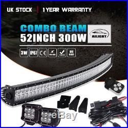 52inch 300W CURVED LED LIGHT BAR OFFROAD Fit For LAND ROVER FREELANDER/DISCOVERY
