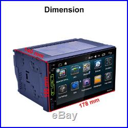 7 2DIN Car Stereo MP5 Player Radio Bluetooth Head Camera GPS Navigation Android