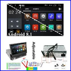 7 Single 1 Din Car Stereo Radio Android 8.1 2G+16G BT WiFi GPS Mirror Link OBD