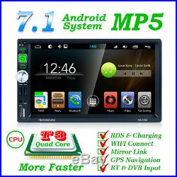 7 inch Android 7.1 System WiFi Car Radio Stereo GPS Navi Multimedia Player MLK