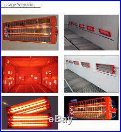 8 Set 2KW Spray/Baking booth Infrared Paint Curing Lamp Heating Light Heater