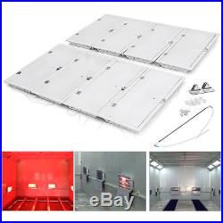 8x 3KW Curing Lamps Heating Lights Spray Bake Booth Oven or Workshop Wall 220V