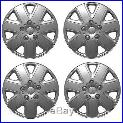 ALLOY LOOK SET OF 4 x 15 INCH SILVER WHEEL TRIMS COVERS HUB CAPS 15