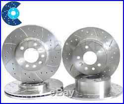 ASTRA 1.8 COUPE Drilled Grooved Brake Discs Front Rear
