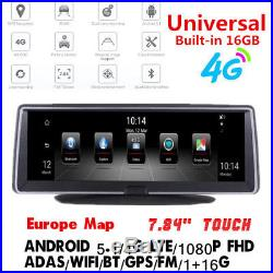 Android 5.1 4G 7.84 Full Touch Nav GPS Vehicle Recorder BT WIFI FM Free EU Map