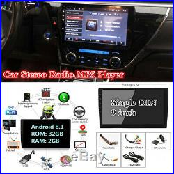 Android 8.1 1DIN 9 HD Head Unit Car Stereo MP5 BT Mirror Link DAB GPS Displayer