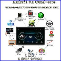 Android 9.1 2Din 9 HD Bluetooth Stereo Radio Car MP5 Player GPS Sat Nav 2+32G