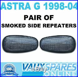Astra G Mk4 Pair Smoked Tinted Side Repeaters Drivers & Passenger Sri Gsi Sxi