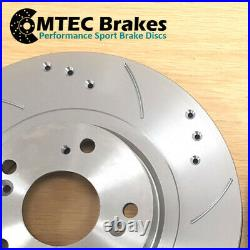 Astra mk4 2.0 GSi Turbo 02-04 Drilled Grooved Front Discs & MTEC Pads 308mm