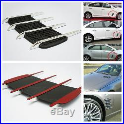 Auto Hoods & Door Side Vent Simulation Intake Grille Chrome Decorative Stickers