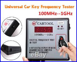 Auto IR Infrared Remote Key Frequency Tester Digital Frequency Gauge 100MHz-1GHz