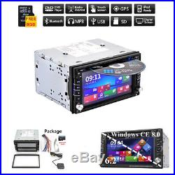 BT GPS Car Stereo HD DVD CD Player 6.2 Double 2Din Radio In-Dash +EURO Map Card