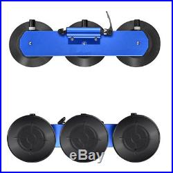 Blue Aluminum Alloy Car Truck Suction Roof-Top Mount Bicycle Holder Carrier Rack