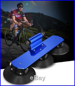 Blue Car Roof-Top Suction Rack Hitch Carrier for Bike Bicycle Rack Accessories