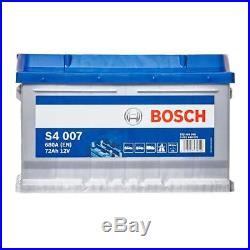 Bosch Car Battery 12V 72Ah Type 100 680CCA 4 Years Wty Sealed OEM Replacement
