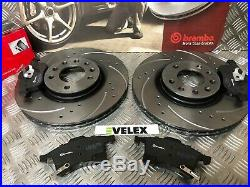 Brembo Front Drilled & Grooved Discs Pads Vaux Astra Corsa Zafira Meriva 2003-19