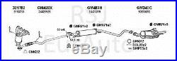 Complete Exhaust System 391299 VAUXHALL ASTRA 1/00-8/02 Mk 4 1.8i 16v Saloon 123