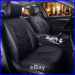 Deluxe Black PU Leather Full set Seat Covers For Vauxhall Insignia Astra Corsa
