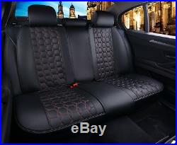 Deluxe Black Red PU Leather Full set Seat Covers For Vauxhall Insignia Astra