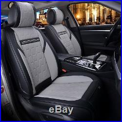 Deluxe Grey & Black PU Leather Full set Seat Covers For Vauxhall Insignia Astra