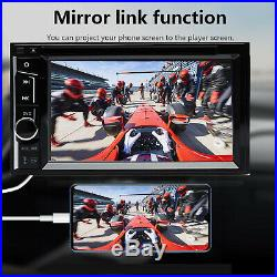 Double DIN 6.2 In dash Car Stereo Radio CD DVD Player FM/USB/SD Bluetooth MP3