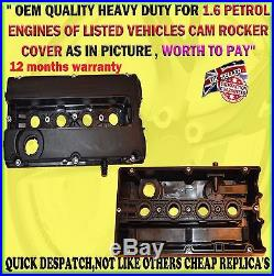 For Vauxhall Astra H Mk5 Cam Rocker Cover & Gasket Z16xep Z16xe1 1.6 Twinport