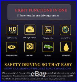 HD 3D 360 Surround View Overlook DVR System Driving Recorder Connecter 4 Camera