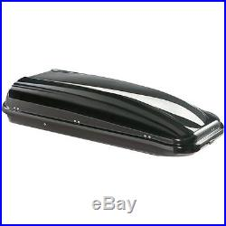 Large 430 litre solid locking roof box Gloss Grey top luggage 50kg Vauxhall Car
