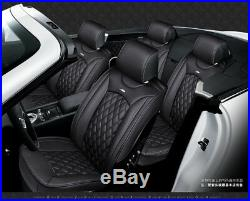 Leather Breathable Car Full Seat Cover Full Surround Seat Cushion 3D Luxury