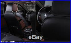 Luxury 6D Full Surrounded Front+Rear Cushion 5-Seats Brown cushion seat covers