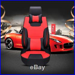 Luxury Microfiber Leather Car Seat Covers Cushions 3 in 1 Rear Row WithPillow Pad