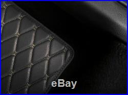 Luxury PU Leather Car Seat Covers Full Seat Covers + 4X PU Leather Car Floor Mat