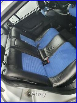 Mk4 Astra G Half Leather Front+Rear Seats Black / Blue Collection Manchester