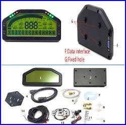 Multi-function Car LCD 9000rpm Dash Dashboard Rally Gauge Voltage Speed Odometer