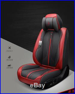 New 6D Car Seat Cover 5 seats Seat Cushion Leather + Sponge Layer Seat Cushion