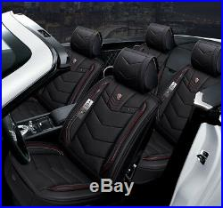 New 6D PU Leather Sport Car Styling Luxury Car Seat Cover 5 seats For Sedan SUV