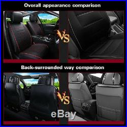 PU Leather Cushion Seat Cover Pad Mat For Car Front Rear withPillows Comfortable
